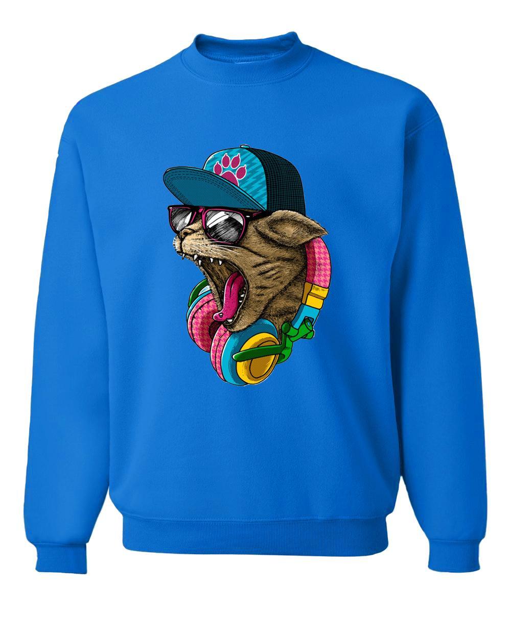 nouveauté DJ Cat sweats imprimés 2017 hommes hoodies automne fitness survêtements hip-hop pull en molleton pour hommes