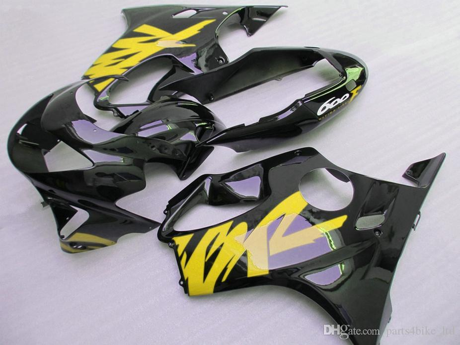 Personalize yellow black bodykits for Honda Injection molding custom fairings 99 00 CBR 600 F4 fairing kit CBR600 F4 1999 2000 YODS