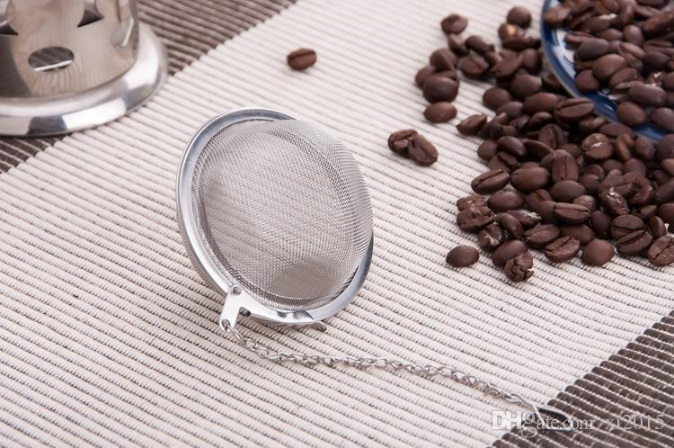 Besten Preis 200 teile / los Edelstahl Teekanne Infuser Kugel Masche Sieb Ball 5 cm Freies verschiffen