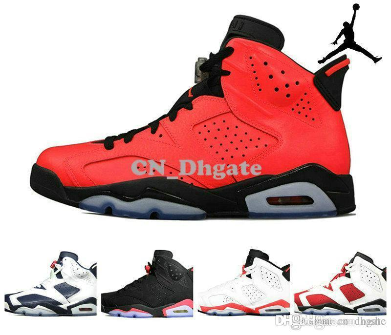 69a824f4410a8e Nike Air Jordan 6 Retro Carmine Black Infrared OVO MVP Oreo Brazil Toro  Mens Basketball Shoes