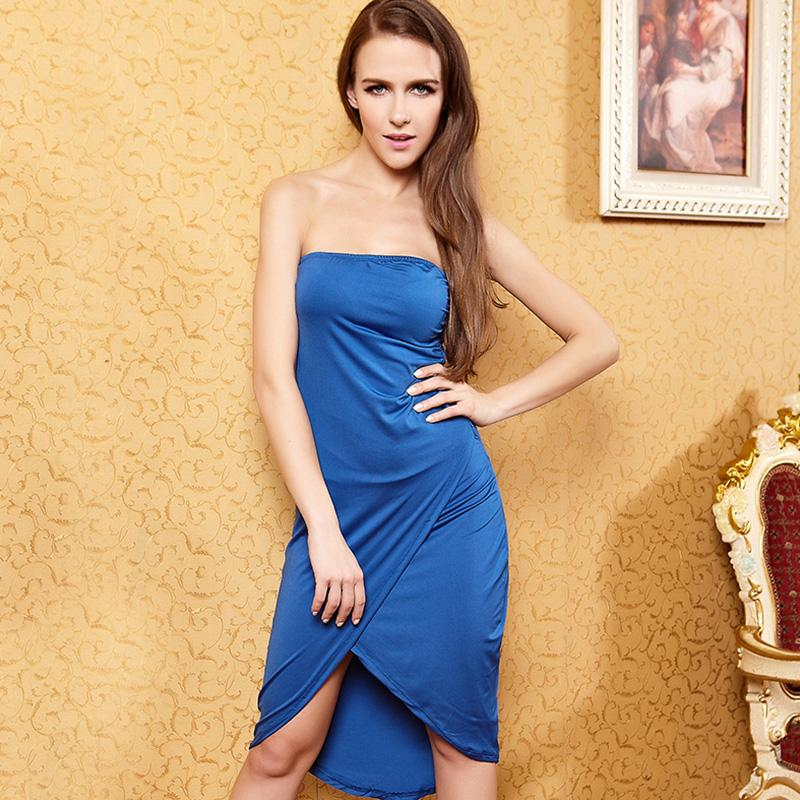 2015 Christmas Relogio Oakely Clock Dress for Women 2016 Evening Dresses Wear Top Blue Strapless Skirt Health Cloth Casual Sexy Street Style