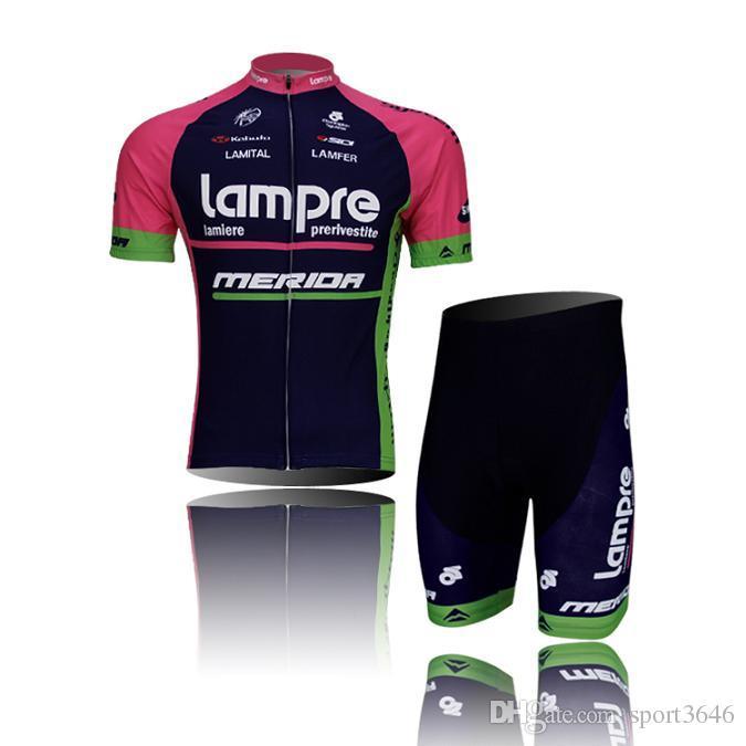 Stellt die Jersey- LAMPR Schwarz Outdoor-Fahrradkleidung mit kurzen Ärmeln bib Radfahren Mode Radfahren Trikot Männer kleidet Fahrrad-Wear