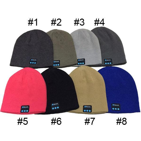Bluetooth Music Hat Soft Warm Beanie Cap with Stereo Headphone Headset Speaker Wireless Microphone V887 1904020