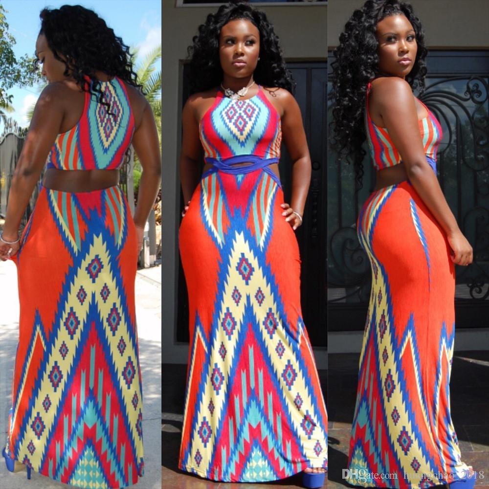 Womens Summer Dresses 2015 Summer Women Sky Blue Patchwork Print Sexy Casual  Long Dress Sexy Cutout Backless Maxi Dress Vestidos De Fiesta Casual  Evening ... 2b172424b