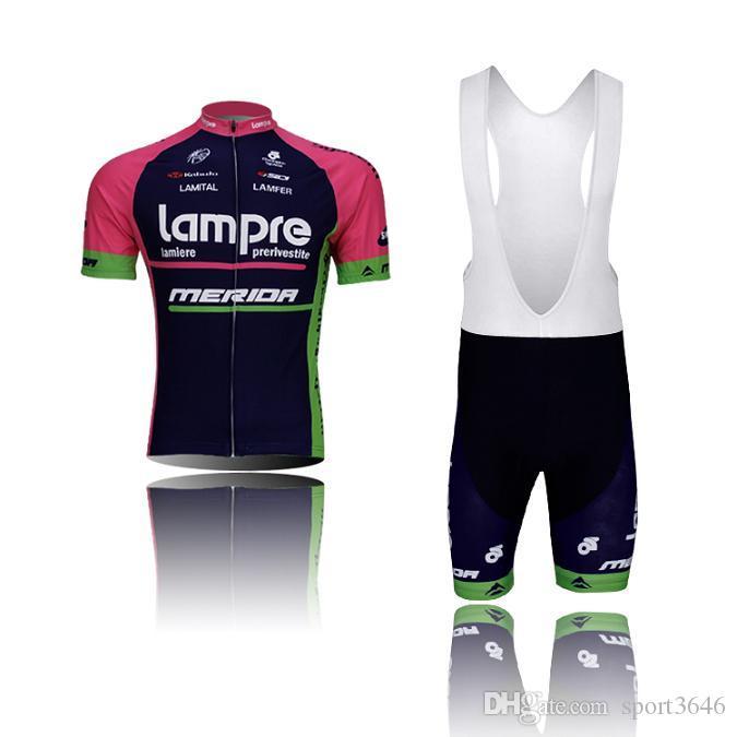 Koszulki jazdy na rowerze Zestawy LAMPR Czarny Odzież na rowerze Zewnętrzna Rower Krótki Rękawy Bib Jazda Na Rowerze Jersey Męski Moda Rowerowa Odzież Rowerowa