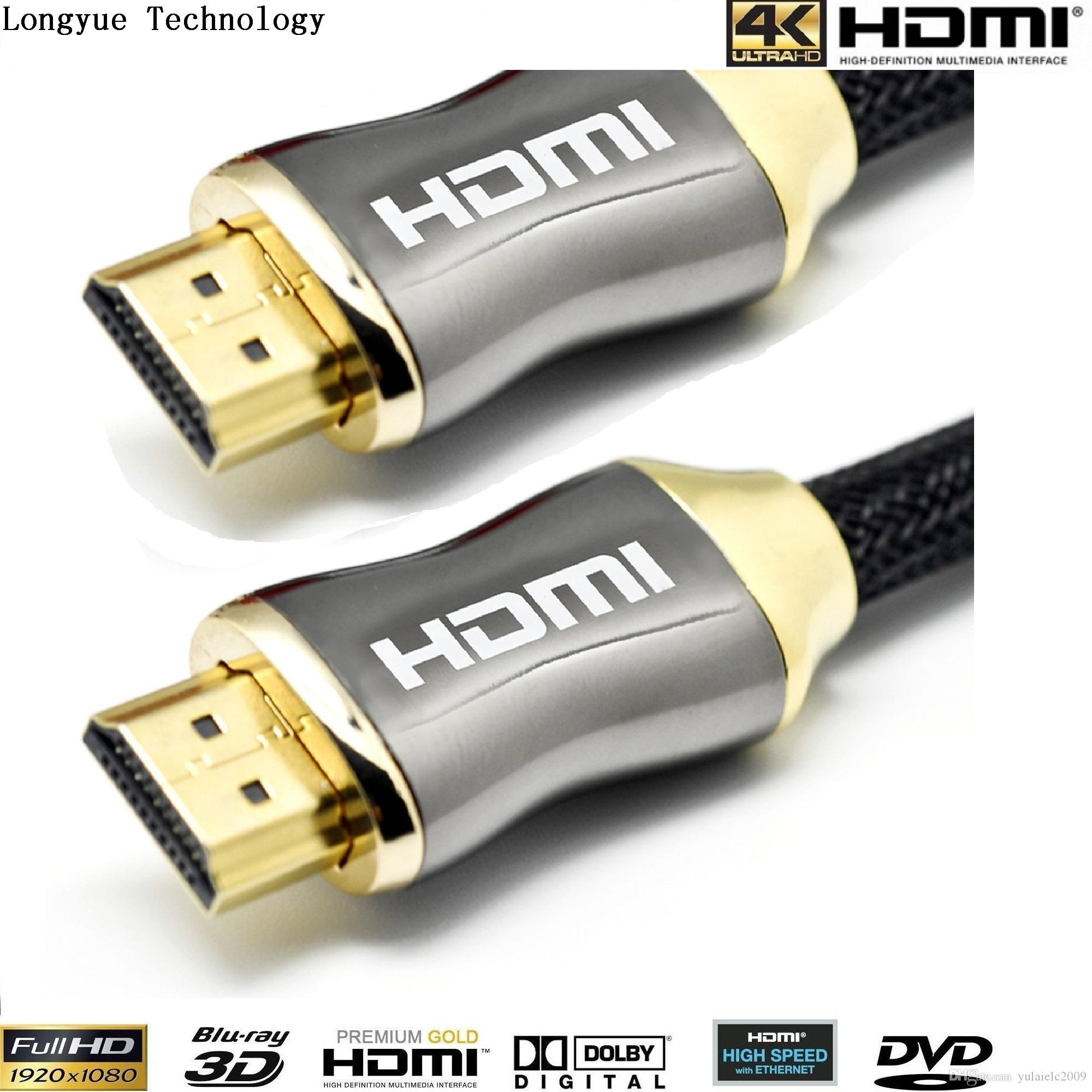 0.5m 1m 2m 3m 5m 7.5m 10m 20m 2ft/3ft/5ft/6ft/10ft GOLD metal casew HDMI 1.4V PREMIUM hdmi Cable HDTV 3D 1080P 2160P Lead metre
