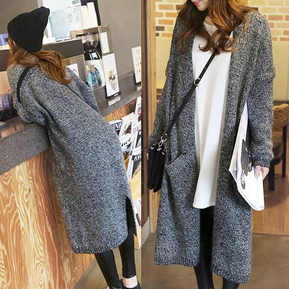 e1b4caad15 2019 Wholesale 2016 Fall And Winter Clothes New Korean Long Sweater Coat  Loose Big Yards Knit Cardigan Shawl Female Thick From Harrvey