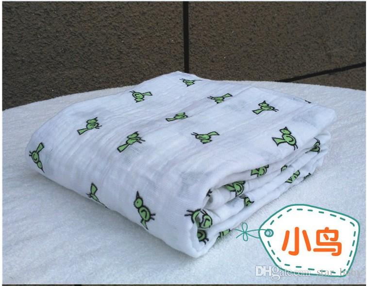 Primavera Verão 120 * 120 cm 180g Muslin Cobertor Aden Anais bebê Swaddle Envoltório cobertor cobertor Toweling Infantil Cobertor K6199