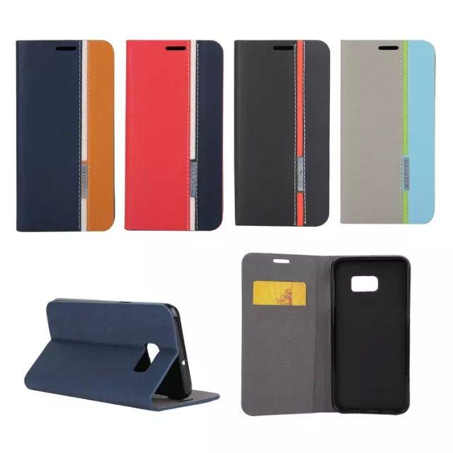 Hybrid Hit Contrast Color Folio Leather Flip Case Cover Folding Pouch for iPhone 6 6 Plus Samsung Galaxy Note 4 s6 edge plus