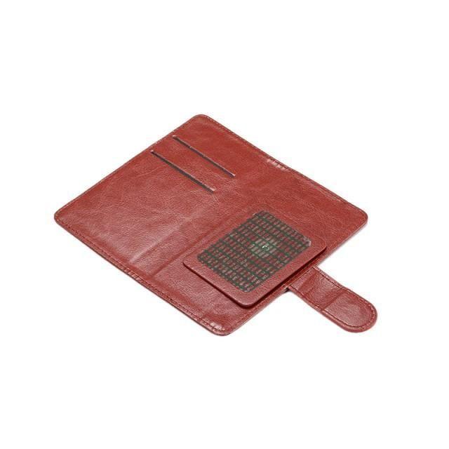 360 بالتناوب العالمي المحفظة غطاء PU فليب جلد بطاقة الائتمان حالة على 4.3 4.8 5.5 5 6 بوصة الهاتف الخليوي الهاتف المحمول