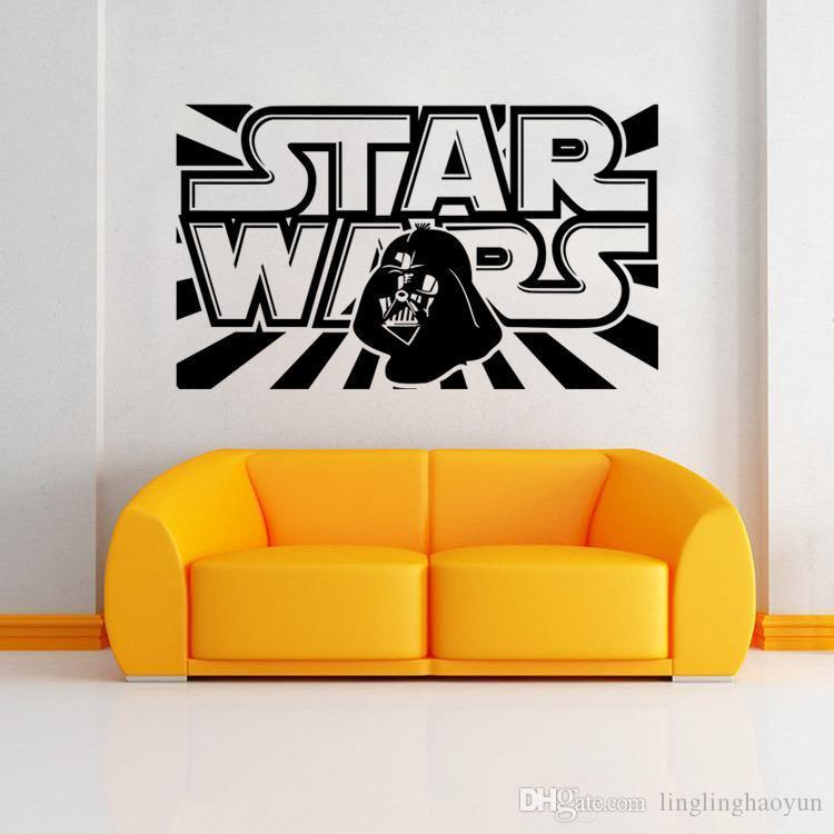 Star Wars Wall Decal With Darth Vader Vinyl Sticker Boys Bedroom - Lego wall decals vinyl