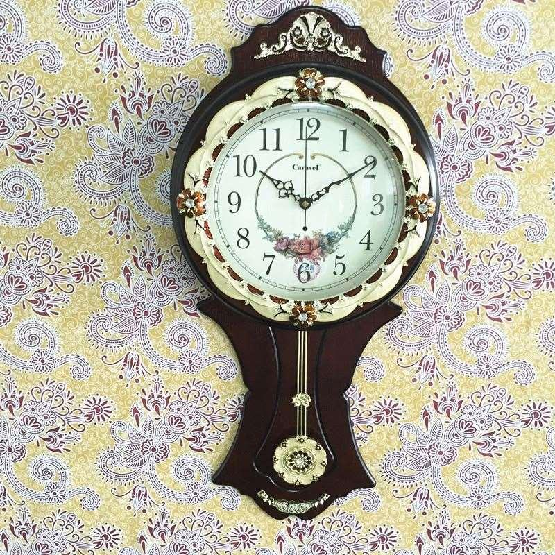 Continental Wooden Wall Clock Fashion Creative Wall Clock Classic