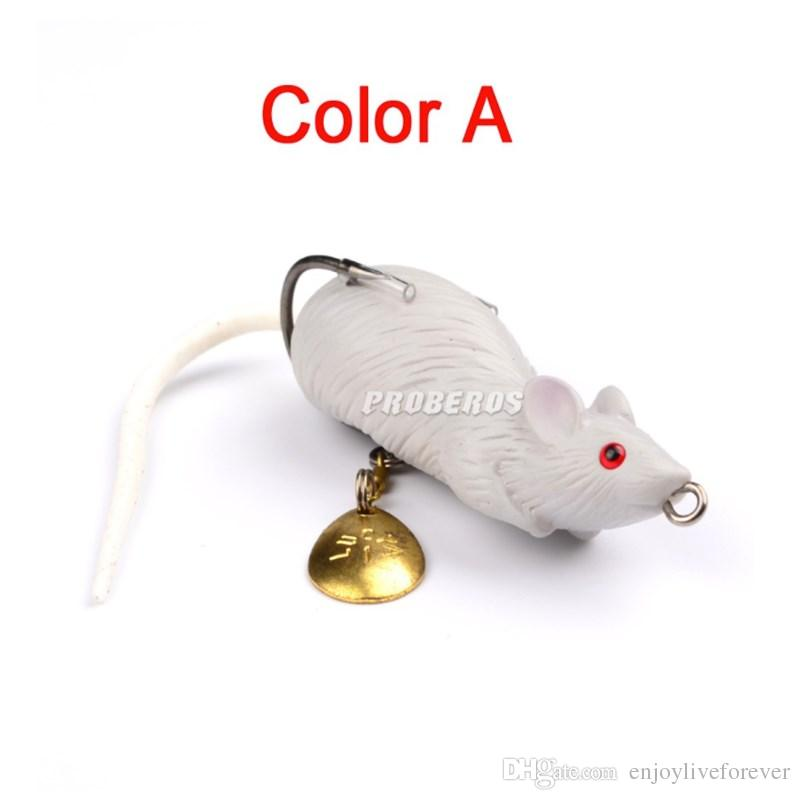 Lifelike Mouse Soft Baits Bionic Frog Fake Baits 11.6g 6.8cm Bass Plastic Fishing Lure for Fishing Snakehead
