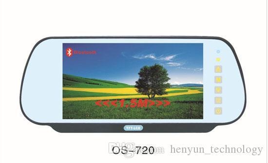 USB / SD(MP5)/ Bluetooth / FMトランスミッタを搭載した新しいユニバーサル7 ''カーリアビューミラーモニタ