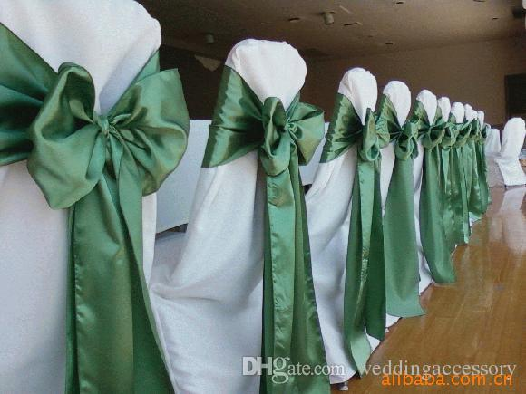 satin chair sash 6 x 108 wedding favor decorations many color for