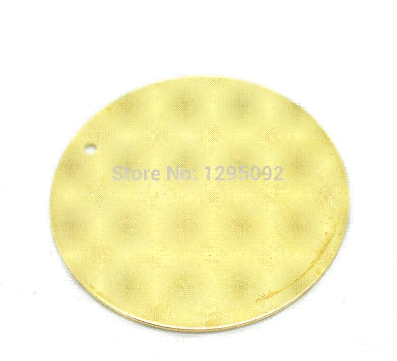 Wholesale Hot New DIY Brass Metal Stamping Blanks Tags Round