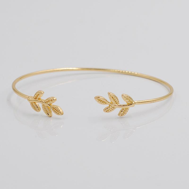 Nouveau Bracelets 925 argent sterling amende Bracelet Mode Bracelet Bracelets feuille femmes laisse Contracté bracelet Alliage lisse Bracelets Réglables