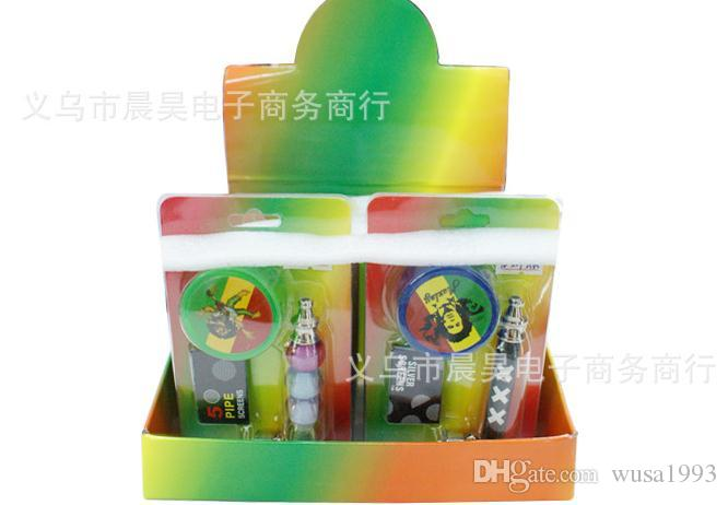 Wholesale CH-202 kit metal pipe / metal bong, smoke detectors + Get mill filters, pipe 8.5 * 3.1 * 2.7cm, mill smoke dete