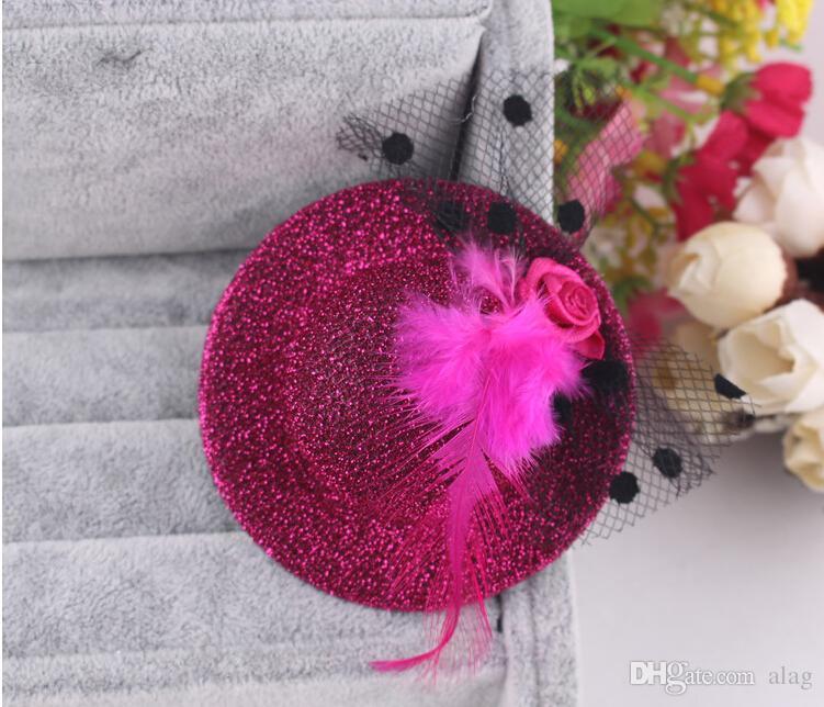 Bud silk Little hat girls barrettes children's hair claws hair clips for baby girls hairpin Side clip Children's Hair Accessories FGH124