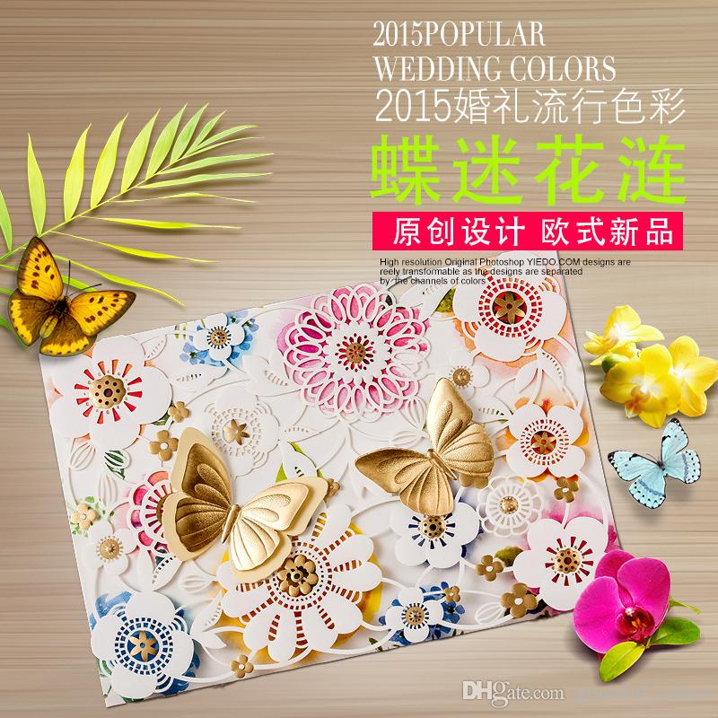 wedding invitations map%0A      Spring Butterfly elegant Wedding Invitations Cards Map Print Embossed Wedding  Invitations Sets Butterfly Invitations Free Shipping