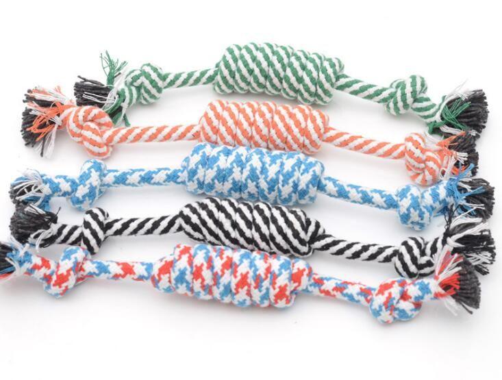 Vente chaude Pet Toys pour chien drôle Chew Noeud Coton Os Corde Chiot Chien jouet Animaux Chiens fournitures pour animaux de compagnie pour petits chiens pour chiots 26cm G1409