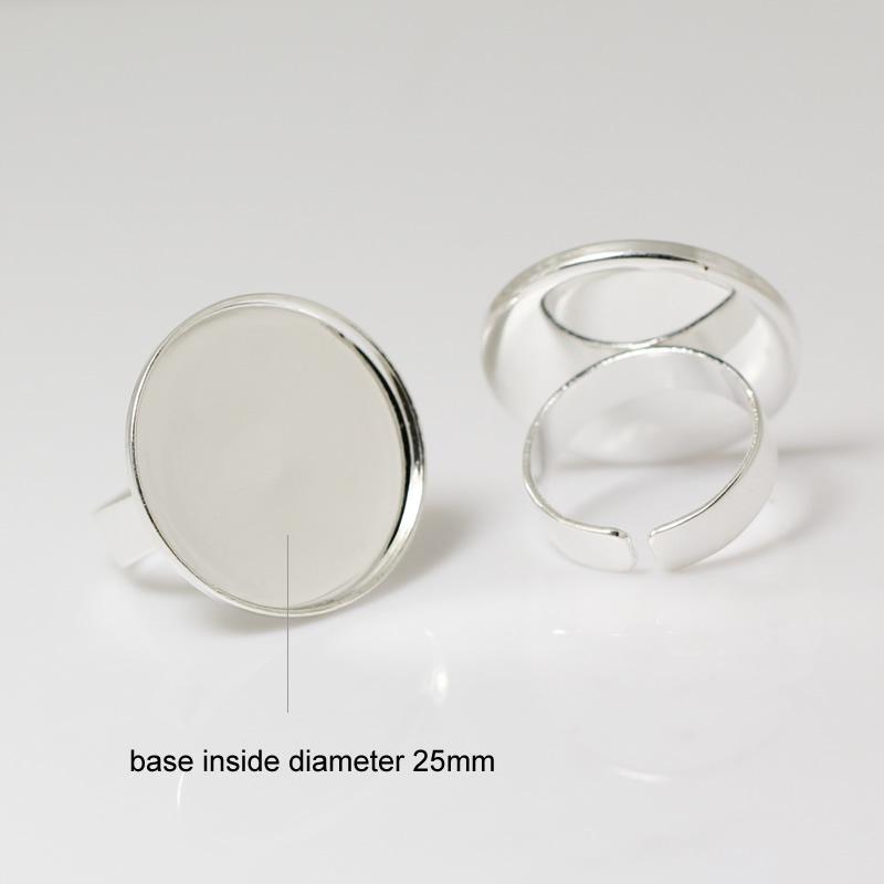 Beadsnice ID 24102 anillo base blanks moda anillo de bisel de latón ajuste para la fabricación de joyas envío gratis