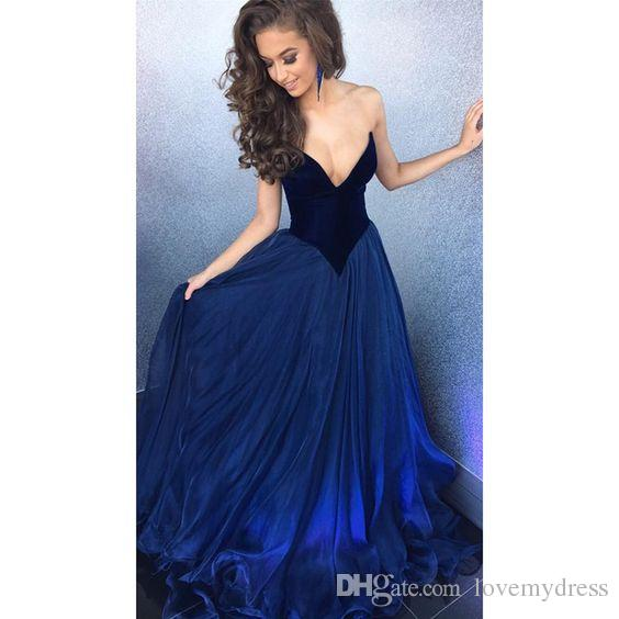 Fashion Deep V neck Burgundy Royal Blue Velvet Pageant Dresses For Women Girls Cheap Long Ball Gown Organza Prom Party Evening Dress Gowns