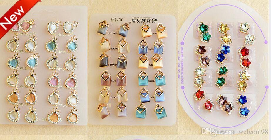 / Mix Style Boucles D'oreilles De Mode Nail Pour Artisanat Boucle D'oreille De Mode Bijoux Cadeau E13 Livraison Gratuite