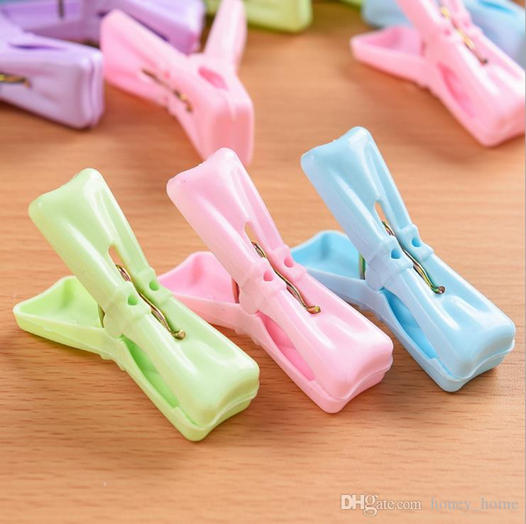 Durable Heavy Duty Clothes Pegs Plastic Hangers Racks Clothespins Laundry Clothes Pins Color Hanging Pegs Clips