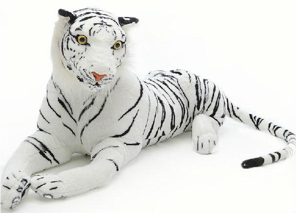 2019 Giant White Tiger Plush Toy Stuffed Animals Doll From Mangod
