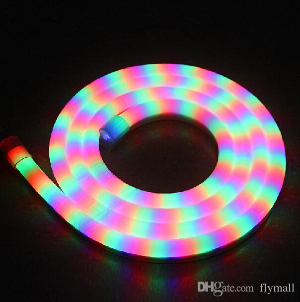 LED النيون فليكس حبل LED PVC الخفيفة شرائط 80LED / M في الأماكن المغلقة / في الهواء الطلق بقيادة أنبوب ديسكو بار حانة حفلة عيد الميلاد للفندق بار ديكور DHL