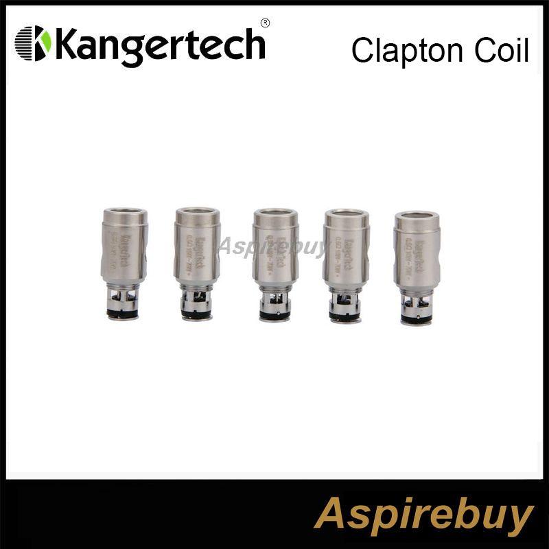 100% Original Kanger Clapton Bobinas De Cabeça 0.5ohm Clapton Substituição Bobinas Para Kanger Subtank Subtank Mini Subtanque Nano Mais Tanque Nebox SUBVOD