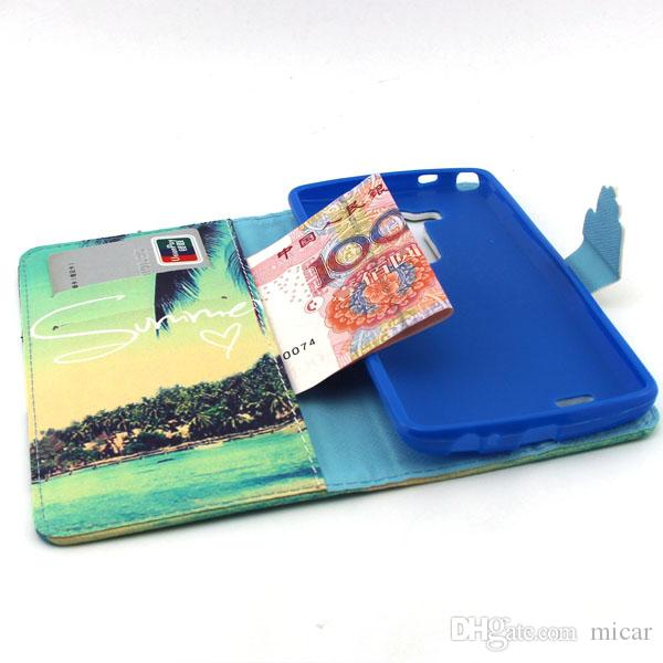 Flower Animal Dog Design Painting Leather Case for LG Optimus G3 Stand Flip Wallet Case Cover Bag for G3 Housing Cover
