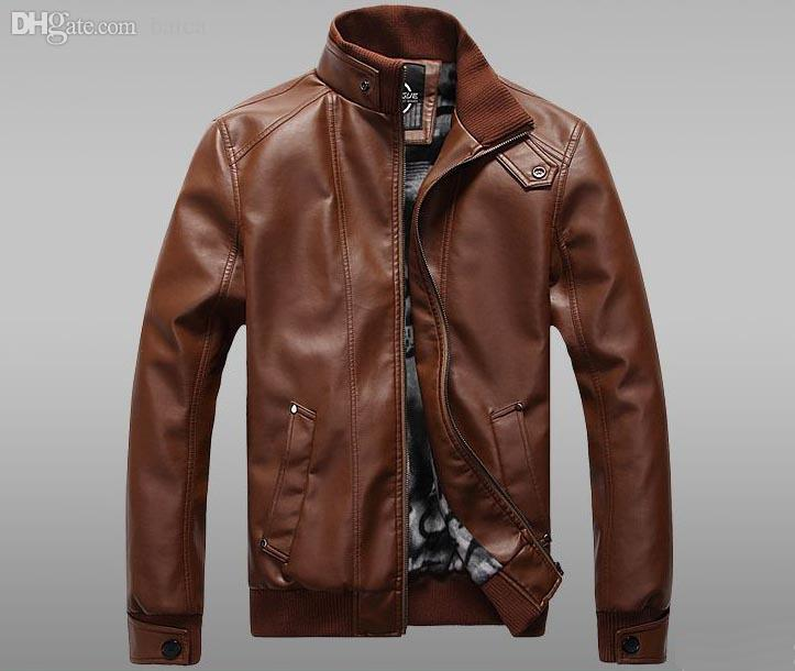 Online Cheap Fall Leather Aviator Jacket With Cotton Lining ...
