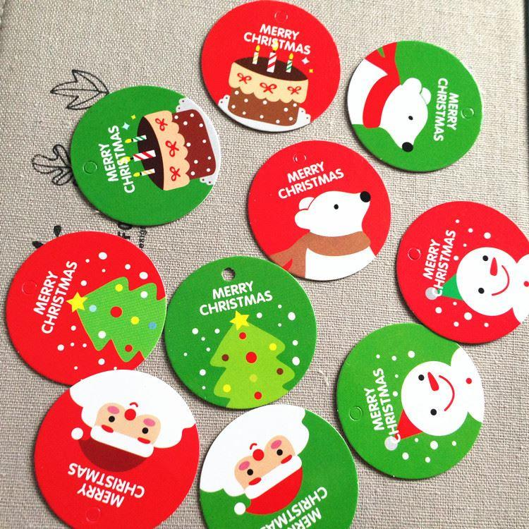 Merry Christmas Labels.100 Assorted Merry Christmas X Mas Gift Tag Hang Tag Decorate Labels Ch5041923