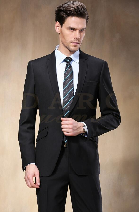 Discount Western Style Men Suits Fashion Black Color Men Business ...