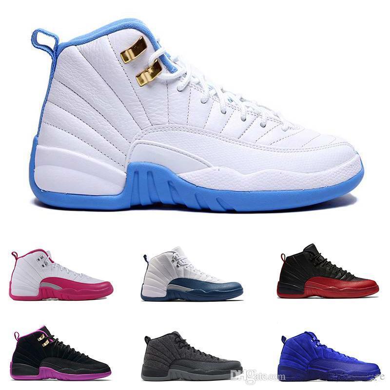 99b2f30c938a9 Acheter Le Plus Récent 12 Hommes Chaussures De Basket Ball Laine Espadrilles  Noir Nylon Blue Suede Discount Chaussures Jeu De La Grippe Française Bleu  ...