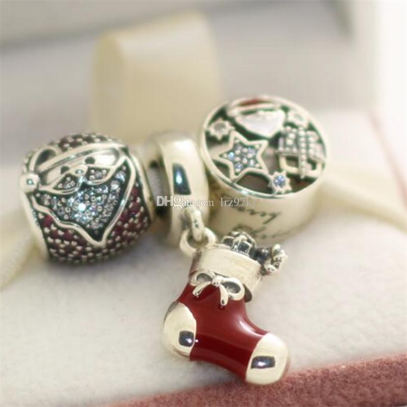 2017 New S925 Sterling Silver Charms and Murano Glass Beads Set Fits European Jewelry Charm Bracelets-CH002