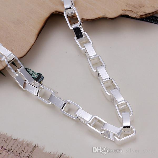 Hot sale best gift 925 silver Big long box hand DFMCH203,Brand new fashion 925 sterling silver Chain link bracelets high grade