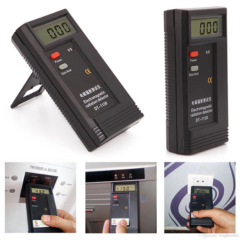 LCD 디지털 방사선 테스터 감지기 EMF 미터 선량계 전자기 테스터 감지기 DT1130 9V 배터리 소매 패키지에 포함