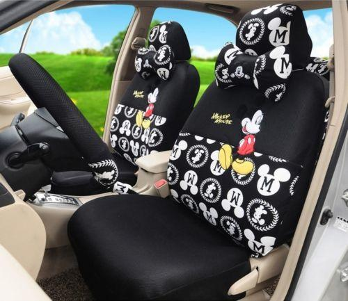 Black Proud Mickey Mouse Car Seat Covers Online With 16572 Piece On Oilandwatchess Store