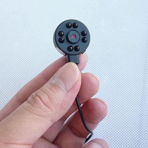 pinhole camera cmos 1/4 600TVL 8 led Infrared Night Vision mini CCTV camera audio video color security surveillance DIY Micro Camera