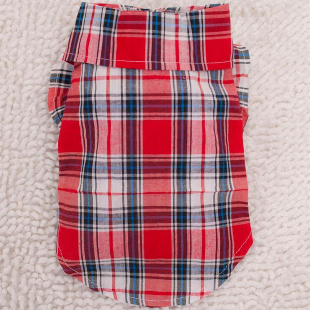 Dog Clothes Cachorro Pet Clothes Mascotas Puppy Ropa Mascotas Pet T-Shirt Clothing Cat KApparel Red Size S M L XL L008