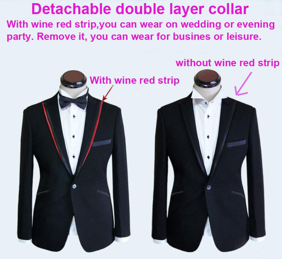 New Men Suits Men Groom Wedding Dinner Pop Suit Tuxedo Jacket ...