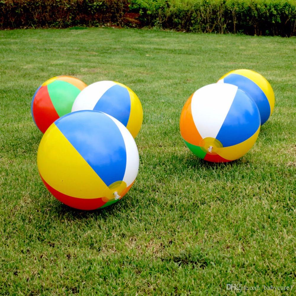 Beach Pool Ball Inflatable Aerated Air Stress Water Educational Toys