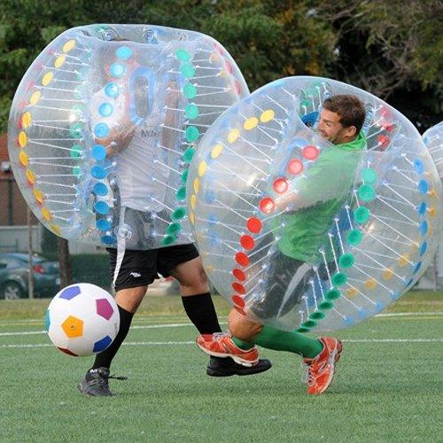 2017 Fedex bola de parachoques inflable bola de parachoques bola de fútbol inflable libre zorb 1.5 m pvc