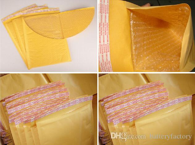 Sacchetti della busta dell'involucro della busta della bolla di colore giallo che imballa la dimensione esterna 110 * 130mm, 150 * 200mm, 200 * 250mm, 230 * 280mm della bolla dei sacchetti della bolla del PE della bolla di Kraft