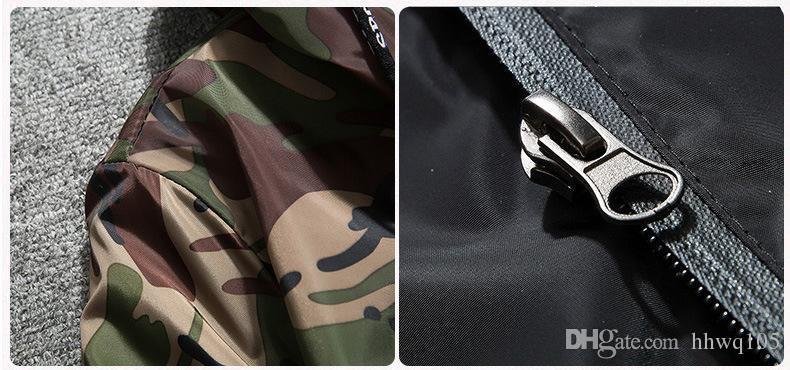 2018 лоскутное камуфляж куртка высокое качество с капюшоном молния ветровка куртка Мужчины Женщины мода университет куртки повседневная пальто NSG0903