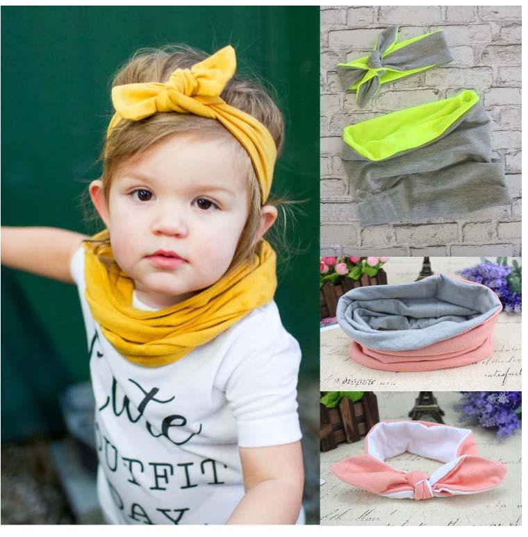 ... discount sale 31000 bdd9f Baby Girls Headband Neckercheif Set CoBow  Hair Accessories Kids Hair Bands Infant ... b2b5d2250f71
