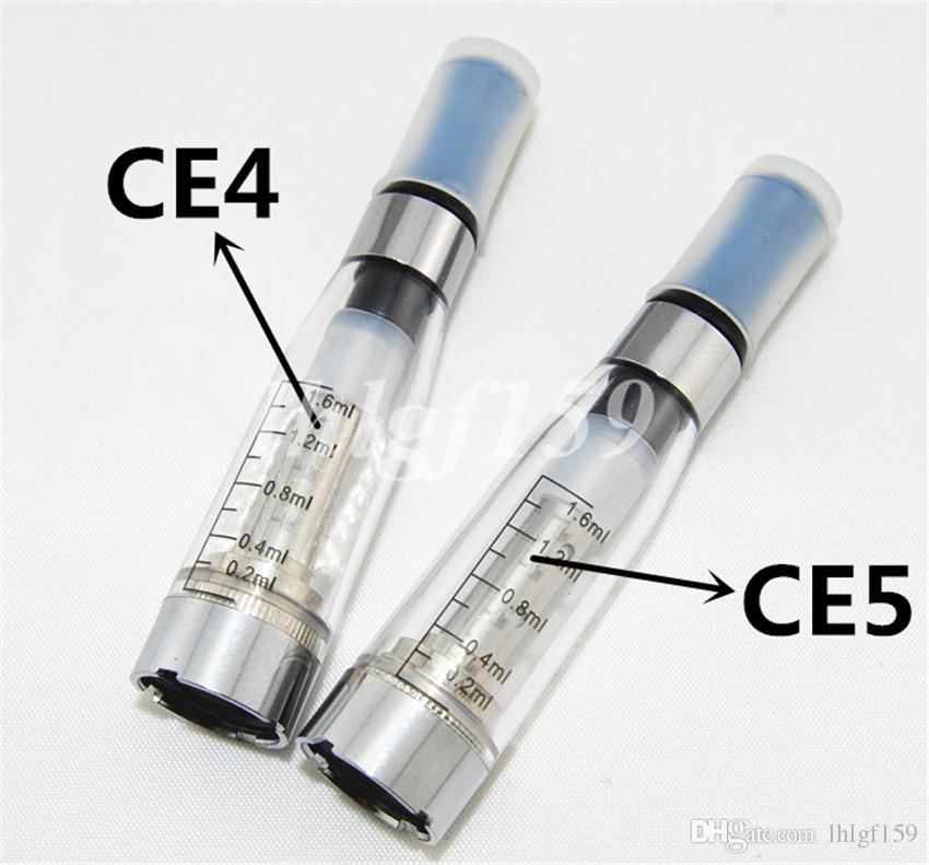 Ego CE4 CE5 atomizer with Ego twist Vision spinner 650~1300mah battery kits e cigarette with Zipper carry case USB charger Needle bottle DHL